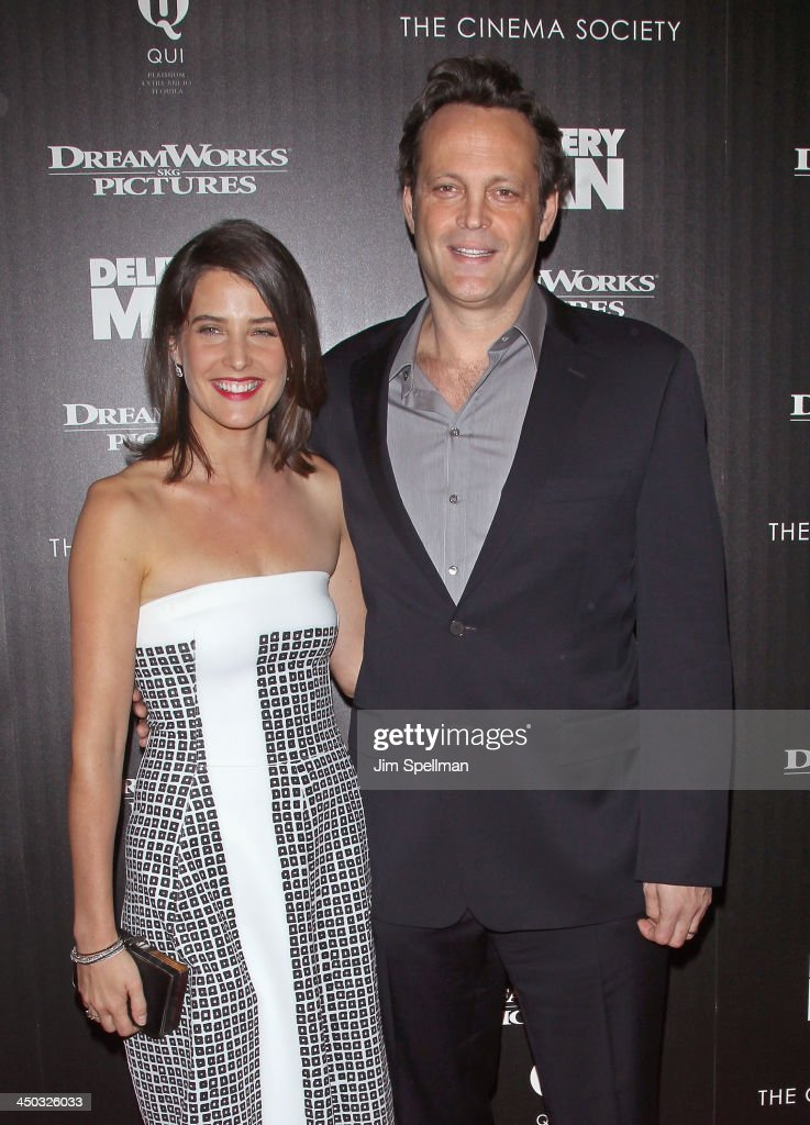Actors <a gi-track='captionPersonalityLinkClicked' href=/galleries/search?phrase=Cobie+Smulders&family=editorial&specificpeople=739940 ng-click='$event.stopPropagation()'>Cobie Smulders</a> and <a gi-track='captionPersonalityLinkClicked' href=/galleries/search?phrase=Vince+Vaughn&family=editorial&specificpeople=182440 ng-click='$event.stopPropagation()'>Vince Vaughn</a> attend the DreamWorks Pictures and The Cinema Society screening of 'Delivery Man' at Paley Center For Media on November 17, 2013 in New York City.