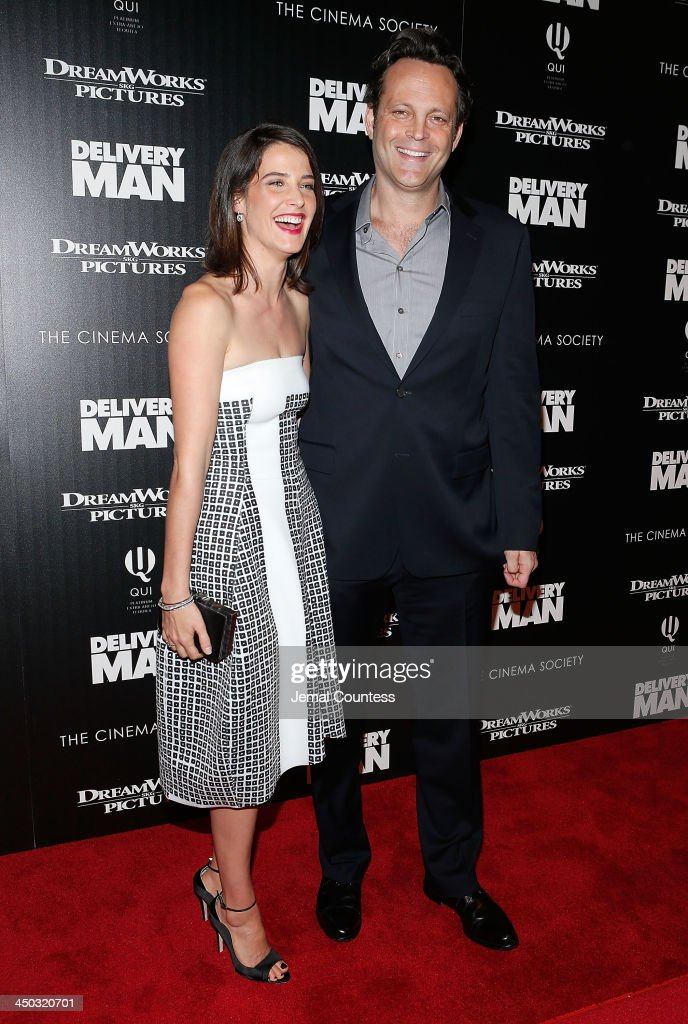 Actors <a gi-track='captionPersonalityLinkClicked' href=/galleries/search?phrase=Cobie+Smulders&family=editorial&specificpeople=739940 ng-click='$event.stopPropagation()'>Cobie Smulders</a> and <a gi-track='captionPersonalityLinkClicked' href=/galleries/search?phrase=Vince+Vaughn&family=editorial&specificpeople=182440 ng-click='$event.stopPropagation()'>Vince Vaughn</a> attend the screening of 'Delivery Man' hosted by DreamWorks Pictures and The Cinema Society at Paley Center For Media on November 17, 2013 in New York City.