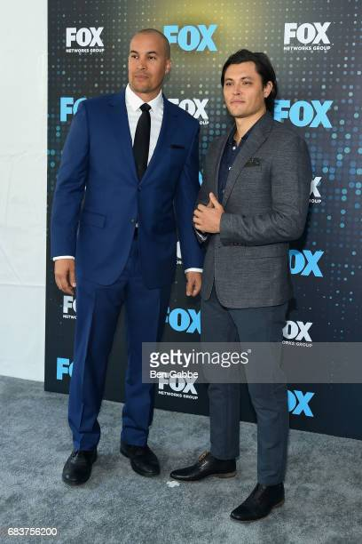 Actors Coby Bell and Blair Redford attend the 2017 FOX Upfront at Wollman Rink on May 15 2017 in New York City