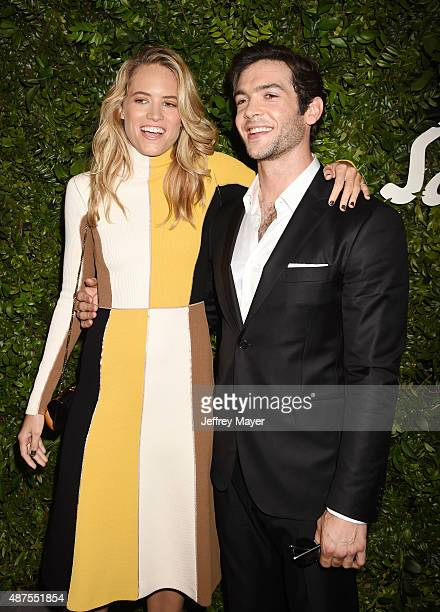 Actors Cody Horn and Ethan Peck arrive at the Salvatore Ferragamo 100 Years In Hollywood celebration at the newly unveiled Rodeo Drive flagship...