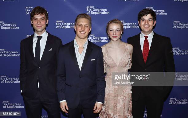 Actors Cody Kostro Keenan Jolliff Sarah Mezzanotte and Ned Riseley attend the 'Six Degrees Of Separation' Broadway opening night after party at...
