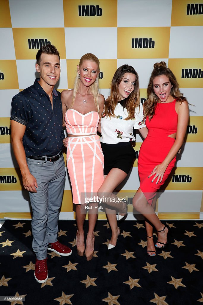 Actors Cody Linley Tara Reid Masiela Lusha and Ryan Newman of Sharknado attend the IMDb Yacht at San Diego ComicCon 2016 Day Two at The IMDb Yacht on...