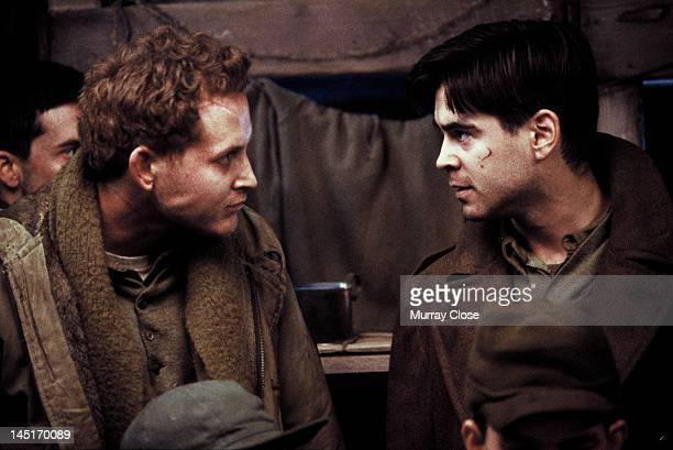 Actors Cole Hauser as Staff Sergeant Vic Bedford and Colin Farrell as Lieutenant Thomas Hart in the film 'Hart's War' 2002