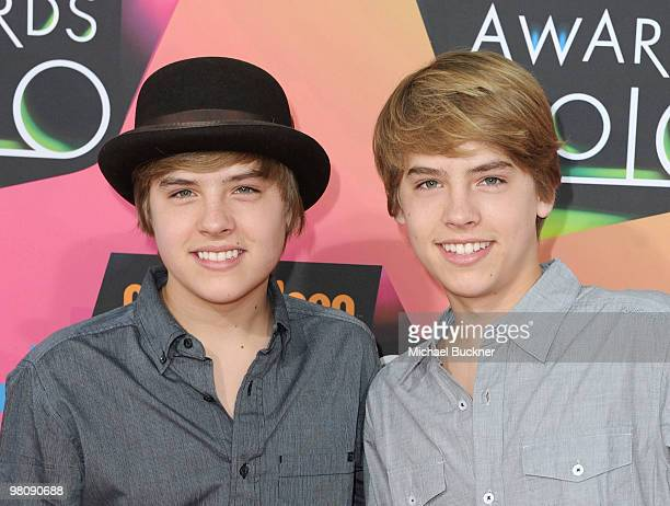 Actors Cole Sprouse and Dylan Sprouse arrive at Nickelodeon's 23rd Annual Kids' Choice Awards held at UCLA's Pauley Pavilion on March 27 2010 in Los...