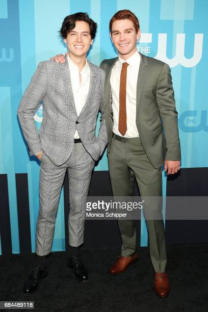 Actors Cole Sprouse and KJ Apa attend the 2017 CW Upfront on May 18 2017 in New York City