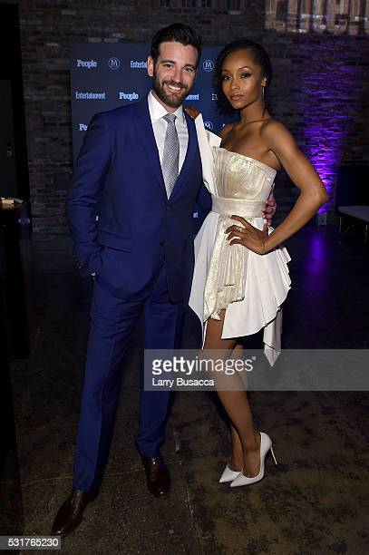 Actors Colin Donnell and Yaya DaCosta attend the Entertainment Weekly People Upfronts party 2016 at Cedar Lake on May 16 2016 in New York City