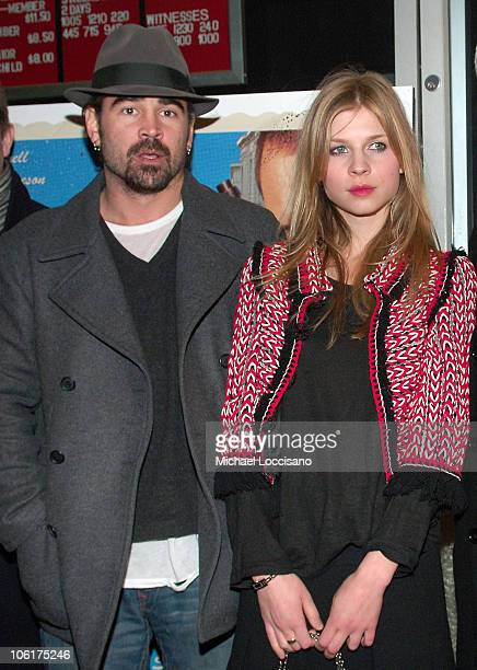 Actors Colin Farrell and actress Clemence Poesy attend the premiere Of 'In Bruges' at the IFC Center in New York City on February 4 2008