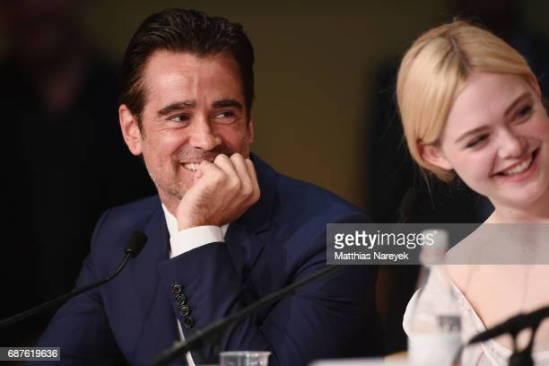 Actors Colin Farrell and Elle Fanning attend the 'The Beguiled' press conference during the 70th annual Cannes Film Festival at Palais des Festivals...