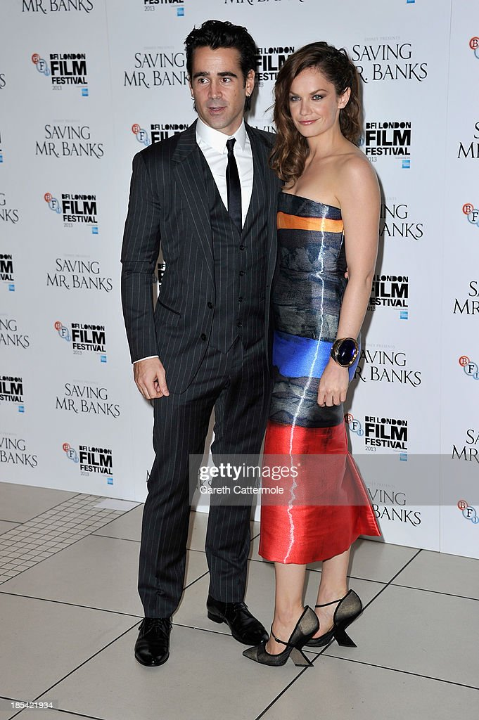 Actors Colin Farrell and Ruth Wilson attend the Closing Night Gala European Premiere of 'Saving Mr Banks' during the 57th BFI London Film Festival at Odeon Leicester Square on October 20, 2013 in London, England.