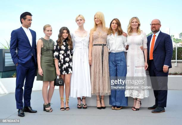 Actors Colin Farrell Angourie Rice Addison Riecke Elle Fanning Nicole Kidman director Sofia Coppola actress Kirsten Dunst and producer Youree Henley...