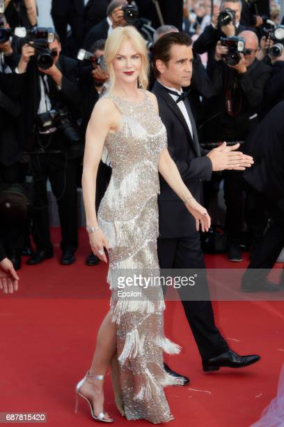 Actors Colin Farrell Nicole Kidman attend the 'The Beguiled' screening during the 70th annual Cannes Film Festival at Palais des Festivals on May 24...