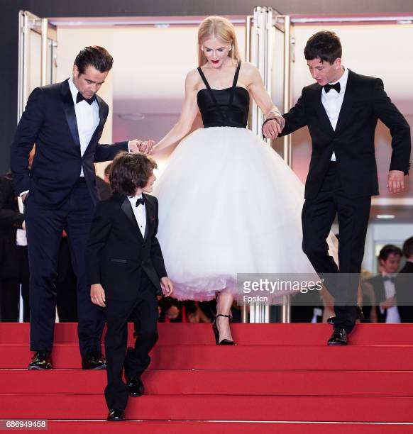 Actors Colin Farrell Sunny Suljic Nicole Kidman and Barry Keoghan depart after the 'The Killing Of A Sacred Deer' screening during the 70th annual...