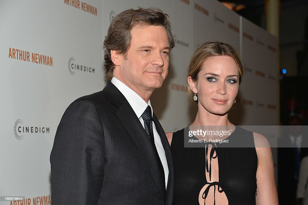 Actors <a gi-track='captionPersonalityLinkClicked' href=/galleries/search?phrase=Colin+Firth&family=editorial&specificpeople=201620 ng-click='$event.stopPropagation()'>Colin Firth</a> and <a gi-track='captionPersonalityLinkClicked' href=/galleries/search?phrase=Emily+Blunt&family=editorial&specificpeople=213480 ng-click='$event.stopPropagation()'>Emily Blunt</a> attend the premiere of Cinedigm's 'Arthur Newman' at ArcLight Hollywood on April 18, 2013 in Hollywood, California.