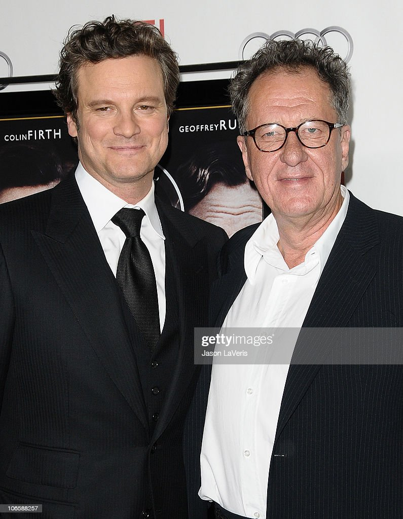 Actors Colin Firth (L) and Geoffrey Rush attend the premiere of 'The King's Speech' during the 2010 AFI Fest at Grauman's Chinese Theatre on November 5, 2010 in Hollywood, California.