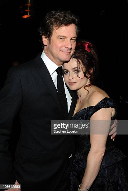 Actors Colin Firth and Helena Bonham Carter attend the after party for 'The King's Speech' presented by The Weinstein Company DeLeon and AOL at Forty...