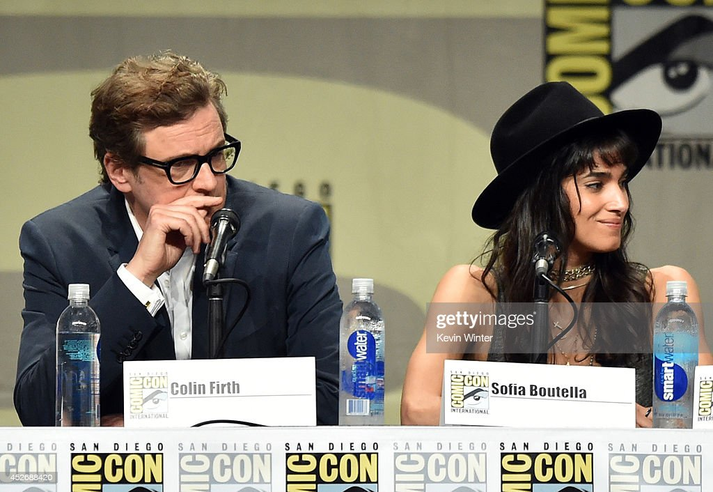 Actors Colin Firth and Sofia Boutella attend the 20th Century Fox presentation during Comic-Con International 2014 at San Diego Convention Center on July 25, 2014 in San Diego, California.