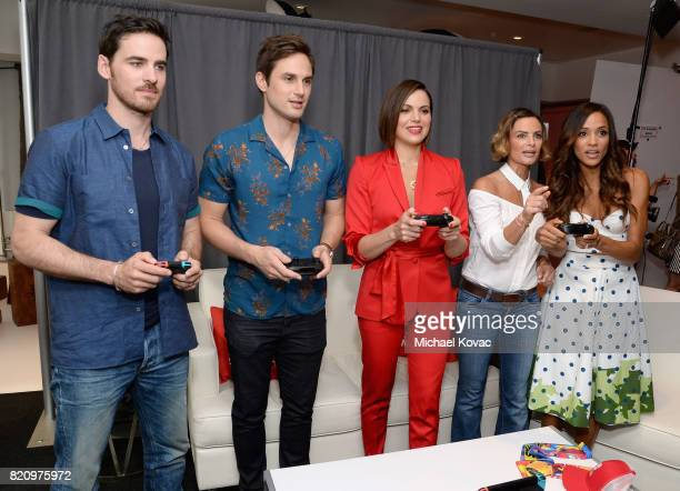 Actors Colin O'Donoghue Andrew J West Lana Parrilla Gabrielle Anwar and Dania Ramirez from the television series 'Once Upon A Time' stopped by...