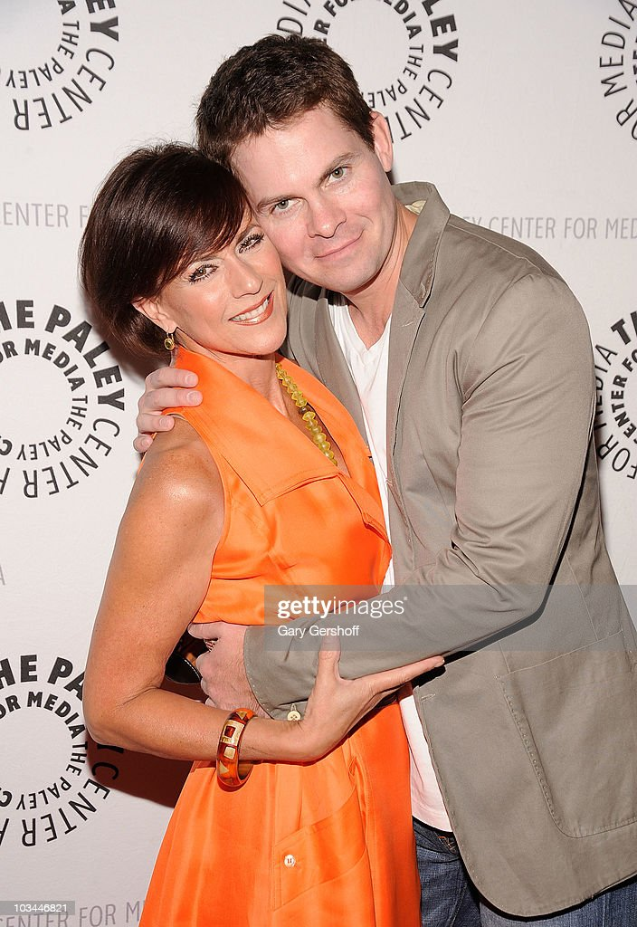 Actors Colleen Zenk (L) and <a gi-track='captionPersonalityLinkClicked' href=/galleries/search?phrase=Trent+Dawson&family=editorial&specificpeople=665543 ng-click='$event.stopPropagation()'>Trent Dawson</a> attend a farewell to cast of 'As The World Turns' at The Paley Center for Media on August 18, 2010 in New York City.