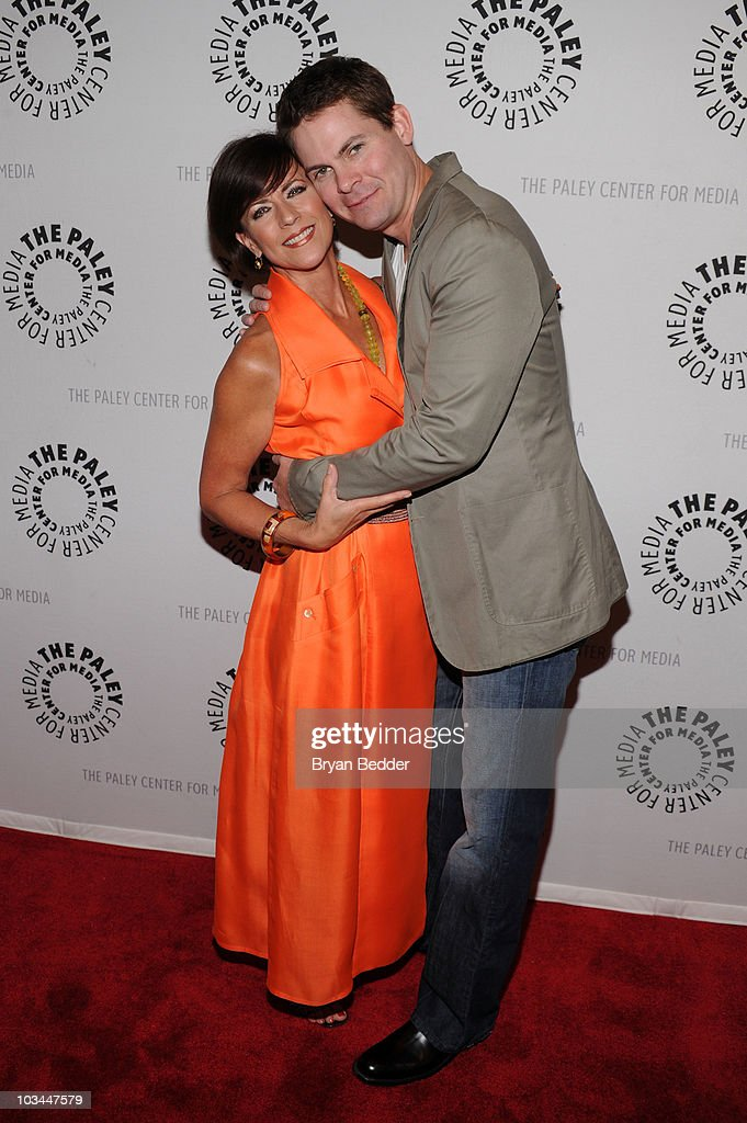 Actors Colleen Zenk and <a gi-track='captionPersonalityLinkClicked' href=/galleries/search?phrase=Trent+Dawson&family=editorial&specificpeople=665543 ng-click='$event.stopPropagation()'>Trent Dawson</a> attends a farewell to cast of 'As The World Turns' at The Paley Center for Media on August 18, 2010 in New York City.