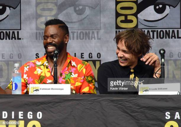 Actors Colman Domingo and Frank Dillane speak onstage at the 'Fear The Walking Dead' panel during ComicCon International 2017 at San Diego Convention...