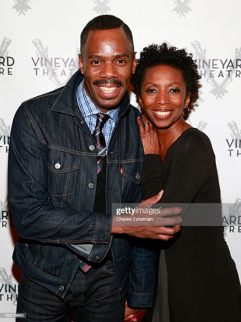 Actors <a gi-track='captionPersonalityLinkClicked' href=/galleries/search?phrase=Colman+Domingo&family=editorial&specificpeople=4946383 ng-click='$event.stopPropagation()'>Colman Domingo</a> and Sharon Washington attend the off Broadway opening night of 'The North Pool' at Vineyard Theatre on March 6, 2013 in New York City.