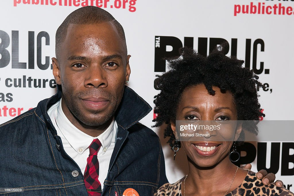 Actors Colman Domingo (L) and Sharon Washington attend the Under The Radar Festival 2013 Opening Night Celebration at The Public Theater on January 9, 2013 in New York City.