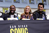 Actors Colman Domingo Kim Dickens and Cliff Curtis attend AMC's 'Fear The Walking Dead' Panel during ComicCon International 2016 at San Diego...