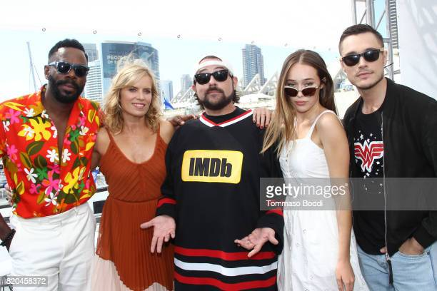 Actors Colman Domingo Kim Dickens host Kevin Smith actors Alycia DebnamCarey and Sam Underwood on the #IMDboat at San Diego ComicCon 2017 at The IMDb...