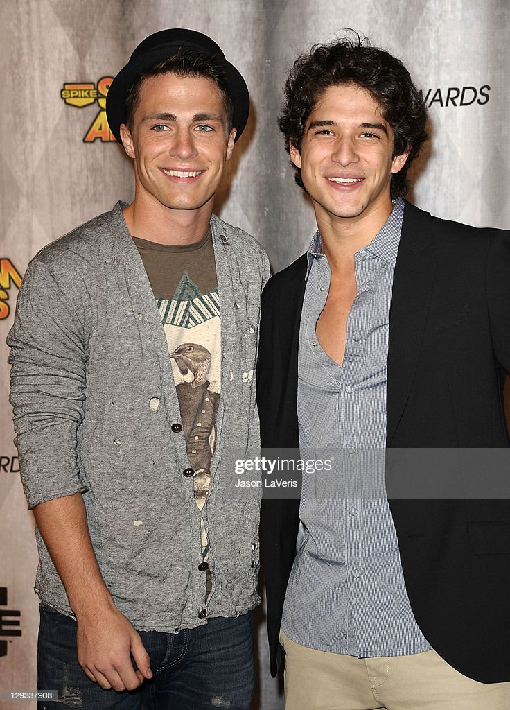 Actors Colton Haynes and Tyler Posey attend Spike TV's 2011 Scream Awards at Gibson Amphitheatre on October 15, 2011 in Universal City, California.