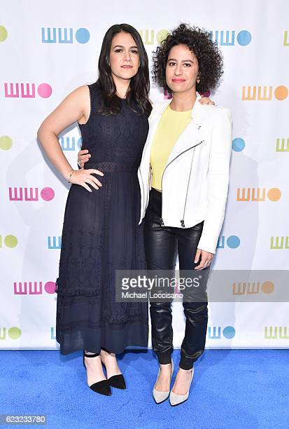 Actors comedians writers Abbi Jacobson and Ilana Glazer attend Worldwide Orphans 12th Annual Gala at Cipriani Wall Street on November 14 2016 in New...
