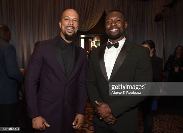 Actors Common and Trevante Rhodes attend BET Presents the American Black Film Festival Honors on February 17 2017 in Beverly Hills California