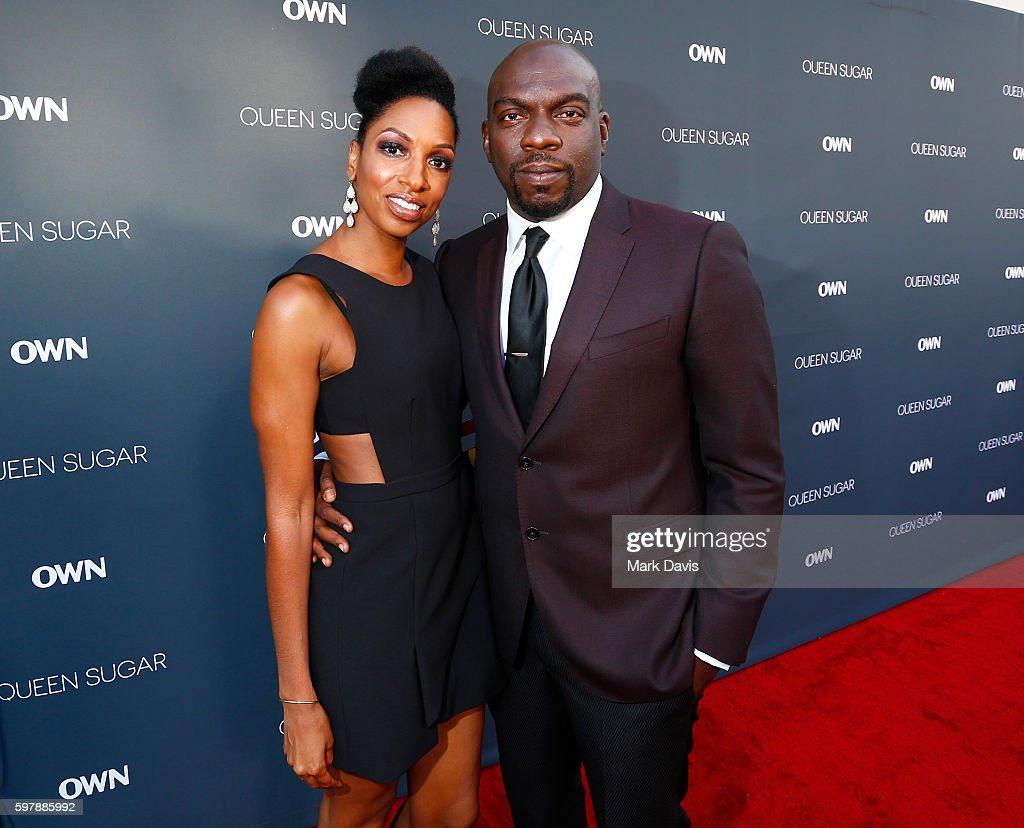 "Actors Conisha Wade and Omar J Dorsey attend OWN Oprah Winfrey Network's ""Queen Sugar"" premiere at the Warner Bros Studio Lot Steven J Ross Theater..."