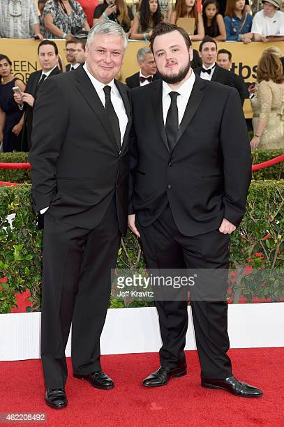 Actors Conleth Hill and John Bradley attend the 21st Annual Screen Actors Guild Awards at The Shrine Auditorium on January 25 2015 in Los Angeles...