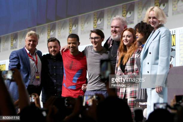 Actors Conleth Hill John Bradley Jacob Anderson Isaac Hempstead Wright Kristian Nairn Sophie Turner Nathalie Emmanuel and Gwendoline Christie at the...