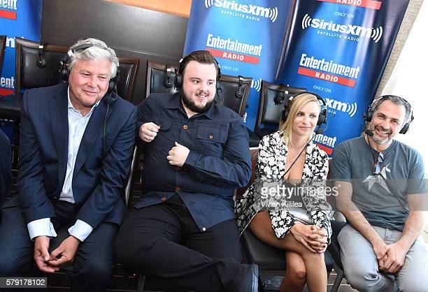 Actors Conleth Hill John BradleyWest and Faye Marsay and director Miguel Sapochnik attend SiriusXM's Entertainment Weekly Radio Channel Broadcasts...