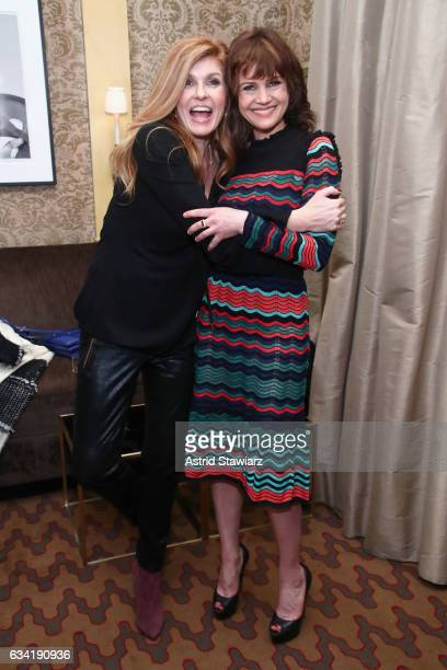 Actors Connie Britton and Carla Gugino attend the InStyle March Issue Party By Laura Brown at The Carlisle Hotel on February 7 2017 in New York City