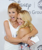 Actors Connie Britton and Hayden Panettiere arrive at the 2012 Disney ABC Television TCA summer press tour party at The Beverly Hilton Hotel on July...