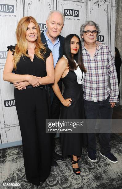 Actors Connie Britton John Lithgow and Salma Hayek and director Miguel Arteta attend Build to discuss 'Beatriz At Dinner' at Build Studio on June 7...