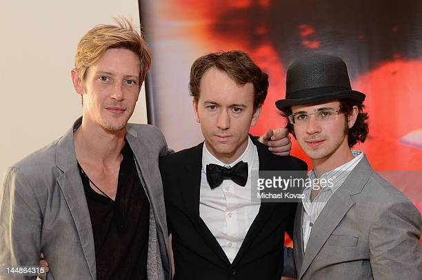 Actors Connor Paolo and Gabriel Mann attend Tyler Shields debut of MOUTHFUL presented by A/X Armani Exchange in support of LOVE IS LOUDER at a...