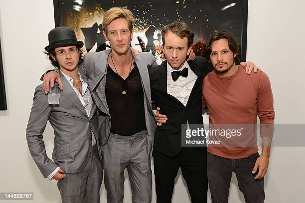 Actors Connor Paolo Gabriel Mann artist Tyler Shields and Nick Wechsler attend the debut of MOUTHFUL presented by A/X Armani Exchange in support of...