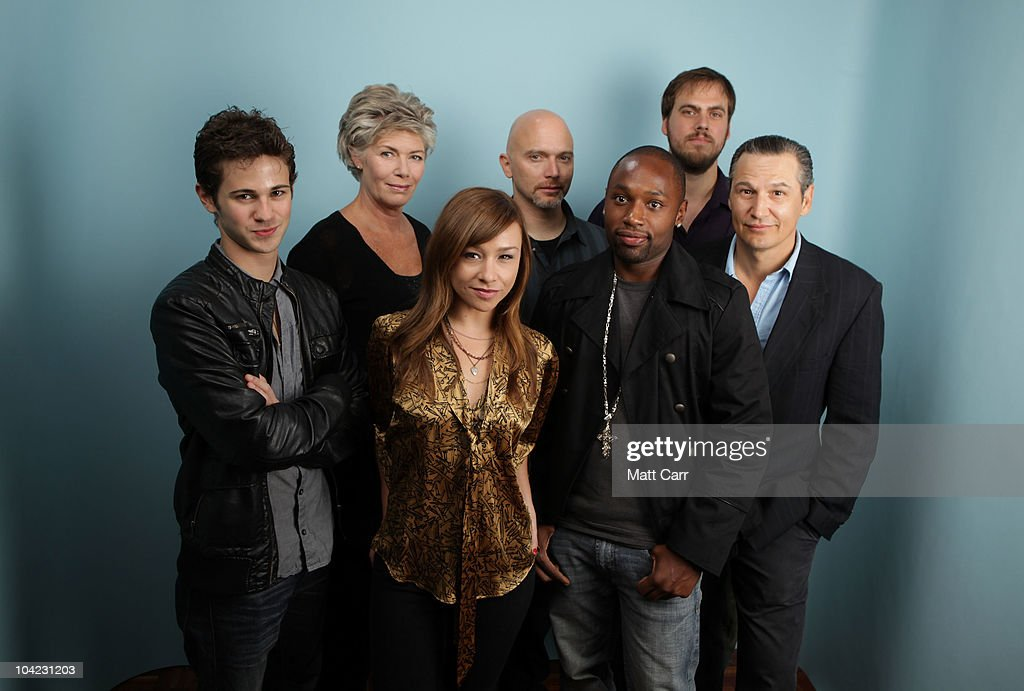 Actors Connor Paolo, Kelly McGillis, Danielle Harris, Michael Cerveris, Sean Nelson, filmmaker Jim Mickle and writer/actor Nick Damici from 'Stake Land' pose for a portrait during the 35th Toronto International Film Festival on September 17, 2010 in Toronto, Canada.