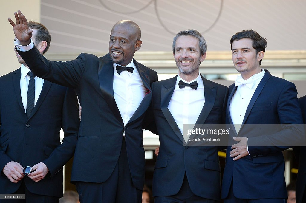 Actors Conrad Kemp, Forest Whitaker, director Jerome Salle and actor Orlando Bloom attend the Premiere of 'Zulu' and the Closing Ceremony of The 66th Annual Cannes Film Festival at Palais des Festivals on May 26, 2013 in Cannes, France.