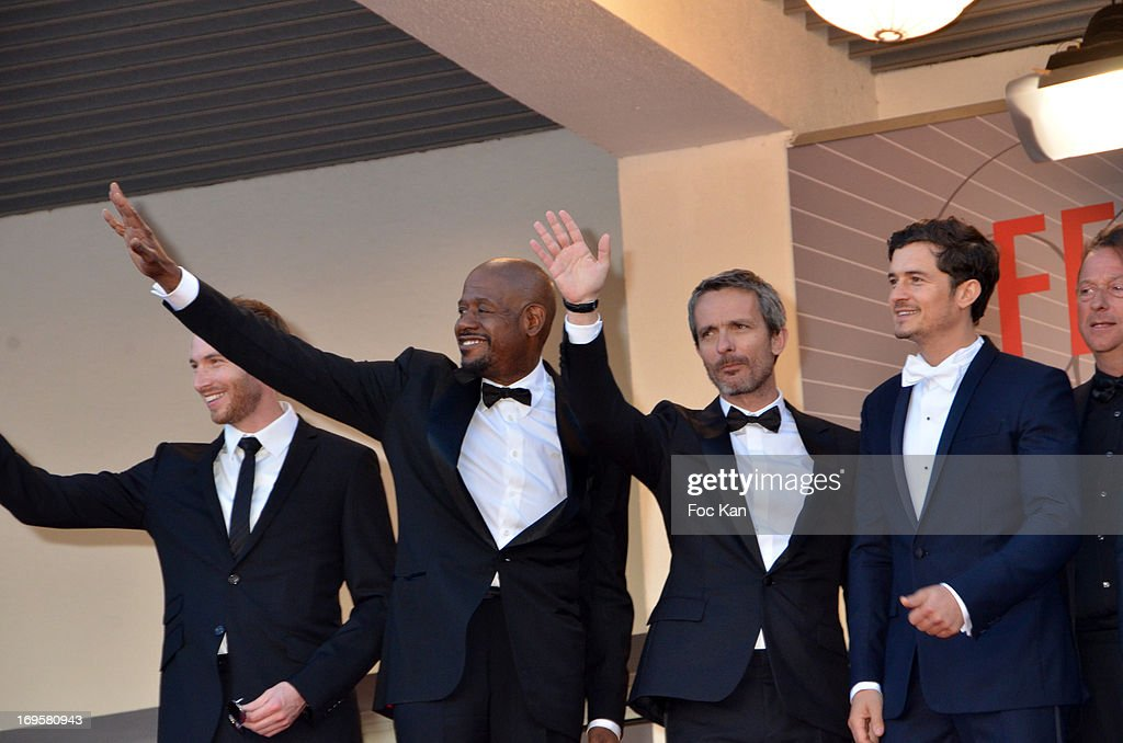 Actors Conrad Kemp, Forest Whitaker, director Jerome Salle and actor Orlando Bloom attend the Premiere of 'Zulu' and the Closing Ceremony of The 66th Annual Cannes Film Festival at Palais des Festivals on May 26, 2013 in Cannes,