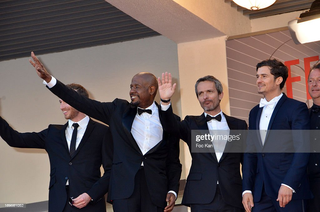 Actors Conrad Kemp, Forest Whitaker, director Jerome Salle, Orlando Bloom and guests attend the Premiere of 'Zulu' and the Closing Ceremony of The 66th Annual Cannes Film Festival at Palais des Festivals on May 26, 2013 in Cannes,
