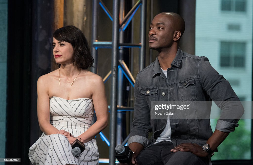 Actors <a gi-track='captionPersonalityLinkClicked' href=/galleries/search?phrase=Constance+Zimmer&family=editorial&specificpeople=217359 ng-click='$event.stopPropagation()'>Constance Zimmer</a> and B.J. Britt visit AOL Build to discuss 'UnREAL' at AOL Studios In New York on May 24, 2016 in New York City.