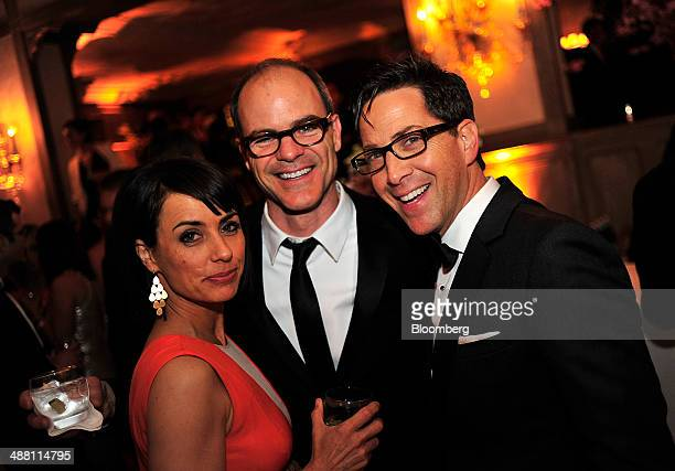 Actors Constance Zimmer from left Michael Kelly and Dan Bucatinsky attend the Bloomberg Vanity Fair White House Correspondents' Association dinner...