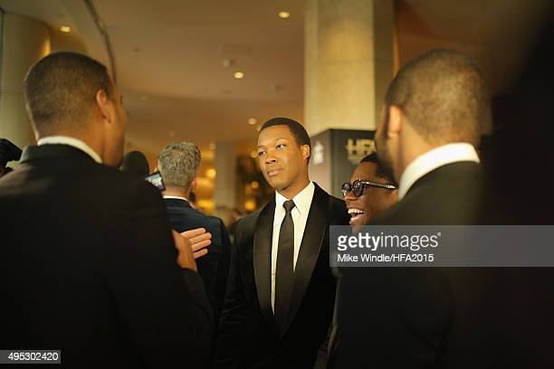 Actors Corey Hawkins and Jason Mitchell attend the 19th Annual Hollywood Film Awards at The Beverly Hilton Hotel on November 1 2015 in Beverly Hills...