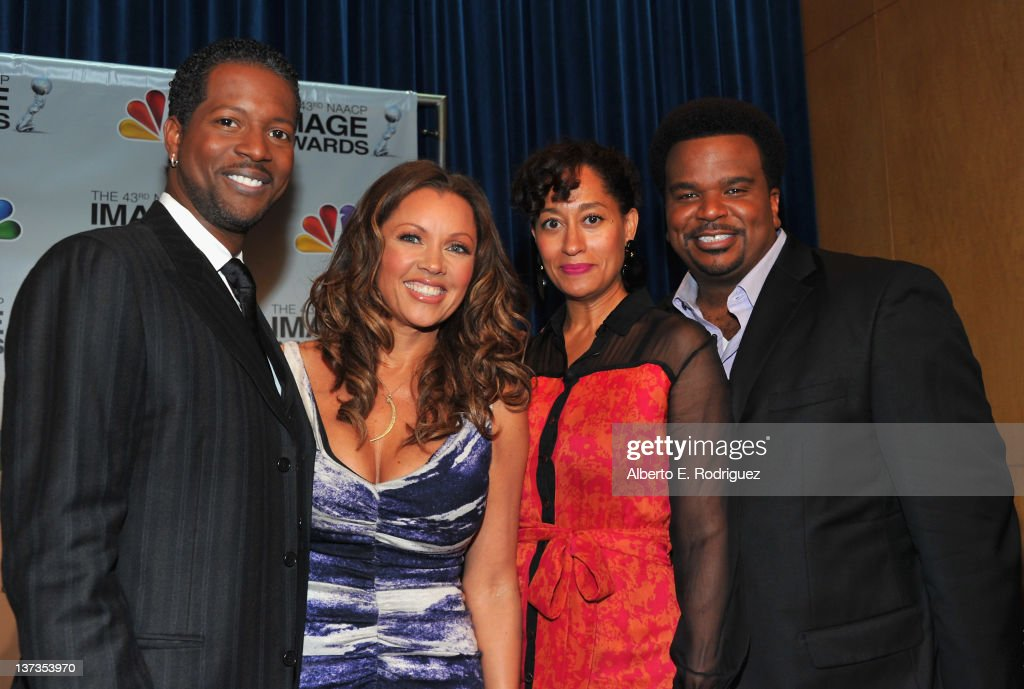Actors Corey Reynolds, Vanessa Williams, <a gi-track='captionPersonalityLinkClicked' href=/galleries/search?phrase=Tracee+Ellis+Ross&family=editorial&specificpeople=211601 ng-click='$event.stopPropagation()'>Tracee Ellis Ross</a> and Craig Robinson attend the 43rd NAACP Image Awards Nomination announcement and press conference at The Paley Center for Media on January 19, 2012 in Beverly Hills, California.
