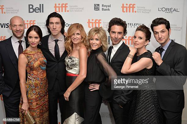 Actors Corey Stoll Abigail Spencer Adam Driver Connie Britton Jane Fonda director Shawn Levy actors Tina Fey and Ben Schwartz attend the 'This Is...