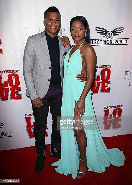 Actors Cory Hardrict and Keke Palmer attend the premiere of 'Brotherly Love' at SilverScreen Theater at the Pacific Design Center on April 13 2015 in...
